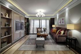 2016灰色简欧风格客厅吊顶装饰设计图片