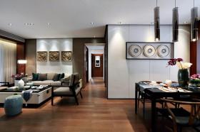 新中式风格餐厅吊顶效果图赏析