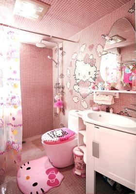 简约风格粉色卫生间装修效果图欣赏