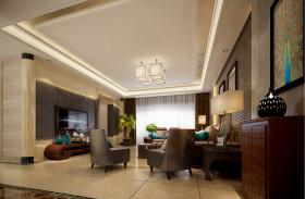 典雅新古典精美客厅吊顶设计