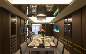 混搭风格餐厅吊顶装潢设计
