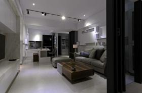 简约风格灰色客厅吊顶装修图片