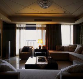 现代风格时尚客厅吊顶设计图片