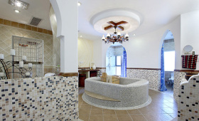 地中海风格清新白色卫生间设计欣赏