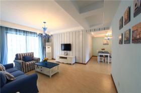 米色浪漫地中海风格客厅吊顶美图赏析