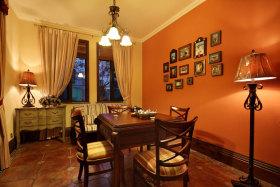 美式橙色书房装潢美图赏析