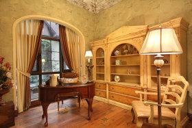 黄色素雅美式风格书房设计欣赏