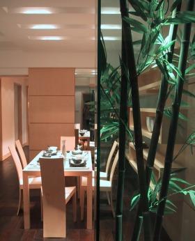 田园风格绿色餐厅吊顶图片欣赏