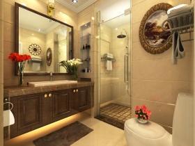 橙色欧式风格卫生间装修效果图设计