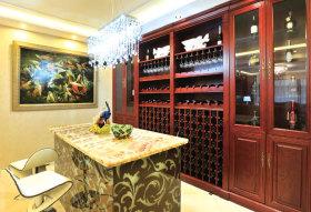 华丽欧式混搭风格酒柜设计效果图