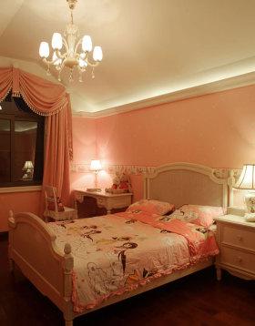 简欧风浪漫粉色儿童房设计图片