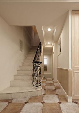 2016田园米色楼梯设计装修
