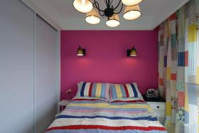宜家风格清新红色儿童房装修图片