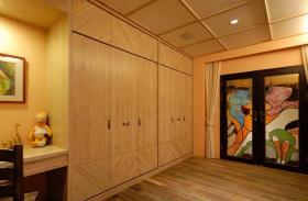 美式风格个性橙色衣柜装潢设计