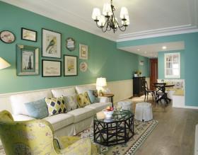 绿色浪漫唯美自然田园客厅装潢美图