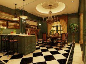 黄色欧式风格餐厅橱柜效果图赏析
