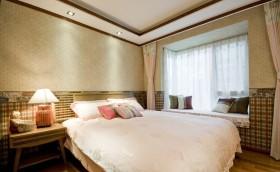2016温馨东南亚卧室飘窗设计图