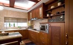 东南亚风格厨房橱柜装修图片