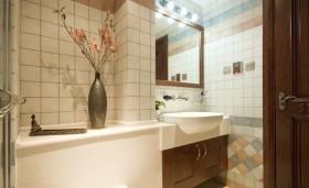 米色东南亚风格卫生间设计图片
