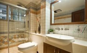 东南亚时尚黄色卫生间设计装潢