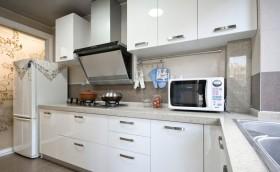 欧式风格简洁厨房橱柜装潢案例