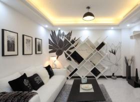 简约黑白经典时尚客厅设计