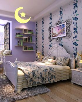 创意时尚混搭紫色儿童房设计欣赏