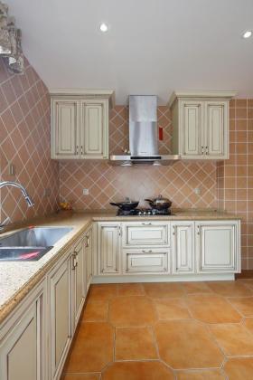 2016实用欧式橙色厨房装修效果图