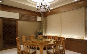 2016原木色中式风格餐厅装修效果图