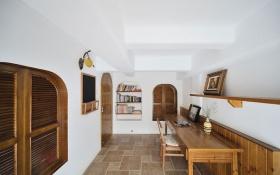 白色地中海风格书房效果图设计