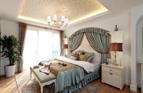 2016米色地中海卧室装修案例