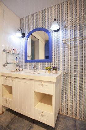 蓝色创意地中海风格卫生间装饰设计图片