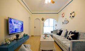 米色地中海客厅设计装潢