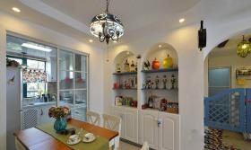 2016希腊地中海风米色餐厅装潢