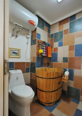 蓝色地中海风格卫生间装修设计