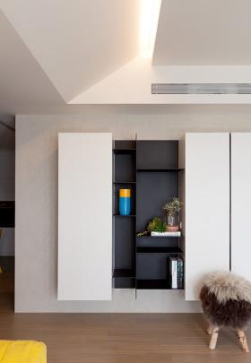 白色现代风格收纳功能区装潢