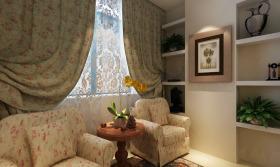 粉色田园风格客厅沙发赏析