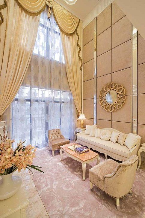 欧式风格轻奢米色客厅装饰赏析图片