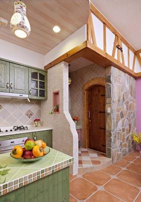 米色田园风格厨房橱柜赏析