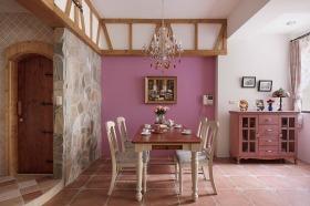 浪漫粉色欧式餐厅设计装潢