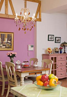 紫色浪漫欧式风格餐厅美图赏析