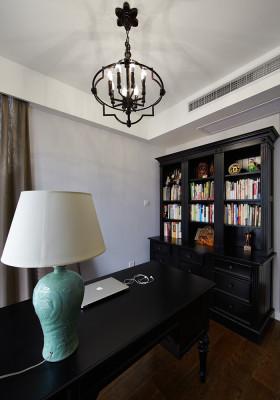 美式风格黑色书房吊顶效果图欣赏
