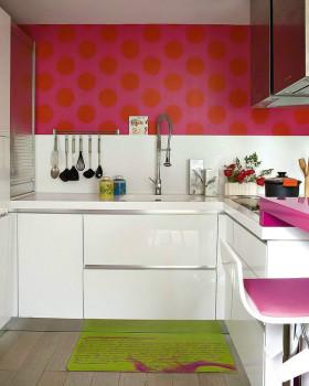 混搭风格个性红色厨房设计赏析