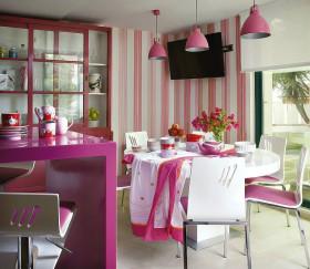 紫色浪漫可爱简约风格餐厅装修