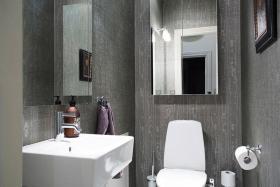 灰色2016典雅混搭风格卫生间设计图
