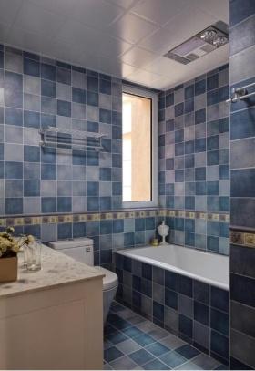 欧式风格蓝色卫生间设计装潢
