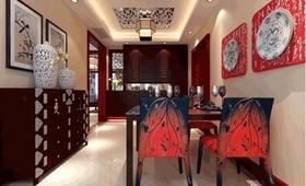 雅致中式风格餐厅吊顶效果图