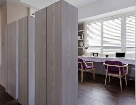 2016灰色欧式风格书房隔断设计案例
