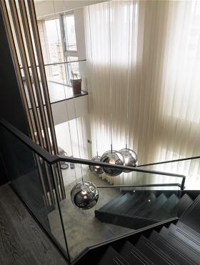 现代风格质感黑色楼梯装饰设计图片