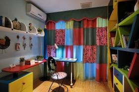 彩色个性宜家风书房设计图